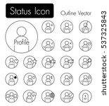 status icon . person icon with... | Shutterstock .eps vector #537325843