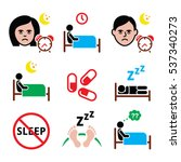 insomnia  people having trouble ... | Shutterstock .eps vector #537340273