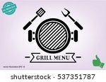 barbecue icon vector... | Shutterstock .eps vector #537351787