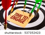 time to engage | Shutterstock . vector #537352423