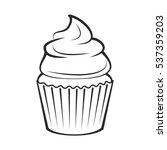 cupcake. vector illustration... | Shutterstock .eps vector #537359203
