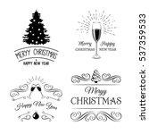 vintage xmas. merry christmas... | Shutterstock .eps vector #537359533
