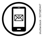 smartphone message icon in...