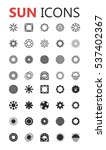 simple modern set of sun icons. ...