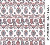 paisley floral oriental ethnic...   Shutterstock .eps vector #537411277