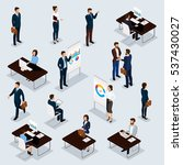business people isometric set... | Shutterstock .eps vector #537430027
