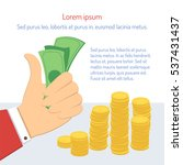 businessman hand holds money... | Shutterstock .eps vector #537431437