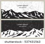 mountain range banners. outdoor ...   Shutterstock .eps vector #537431563
