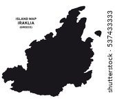 island map of iraklia  greece  | Shutterstock .eps vector #537433333