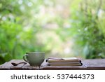 notebook with pencil and... | Shutterstock . vector #537444373
