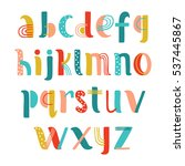 Hand Drawn Creative Alphabet I...