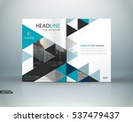 abstract binder art. white a4... | Shutterstock .eps vector #537479437