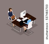 business people isometric set... | Shutterstock .eps vector #537483703