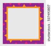 Violet Frame With Orange...