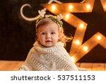 christmas child portrait. close ... | Shutterstock . vector #537511153