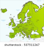 europe map yellow | Shutterstock . vector #537511267