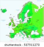 europe map green | Shutterstock . vector #537511273