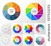 vector circle infographic set.... | Shutterstock .eps vector #537513253
