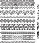 seamless pattern scandinavian... | Shutterstock . vector #537517423