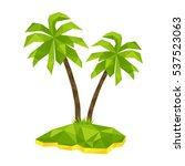 tropical island with two ... | Shutterstock .eps vector #537523063