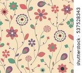 abstract flower seamless...   Shutterstock .eps vector #537528343
