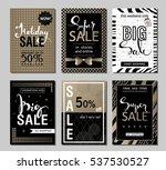 set of social media sale... | Shutterstock .eps vector #537530527