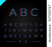 3d effect font or alphabet .... | Shutterstock .eps vector #537530767