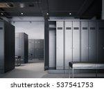 locker room in modern loft... | Shutterstock . vector #537541753