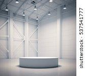 empty white showcase in bright... | Shutterstock . vector #537541777