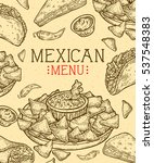 mexican food background with... | Shutterstock .eps vector #537548383