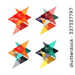 colorful arrow option... | Shutterstock .eps vector #537557797