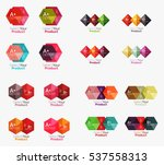 collection of geometric paper... | Shutterstock .eps vector #537558313