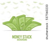 piles of money stack  cash... | Shutterstock .eps vector #537560233