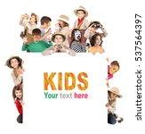 children's group in safari... | Shutterstock . vector #537564397