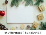 christmas and new year gifts ... | Shutterstock . vector #537564487