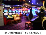 Blurred Image Of Slots Machine...