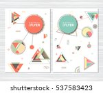 trendy abstract geometric cards.... | Shutterstock .eps vector #537583423