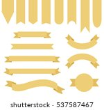 corn yellow color ribbon banner ... | Shutterstock .eps vector #537587467