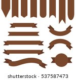 chocolate brown color ribbon... | Shutterstock .eps vector #537587473