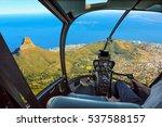 helicopter cockpit flies in... | Shutterstock . vector #537588157