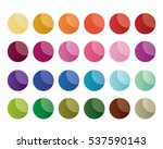 colorful gradient blank circle... | Shutterstock .eps vector #537590143