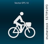 flat cyclist icon | Shutterstock .eps vector #537591493