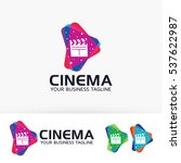 cinema media  movie  film  play ... | Shutterstock .eps vector #537622987