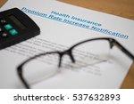 notice of increasing in premium ... | Shutterstock . vector #537632893