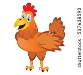 chicken. red rooster symbol by... | Shutterstock .eps vector #537638593