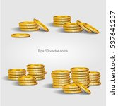 set of gold coins. eps 10... | Shutterstock .eps vector #537641257
