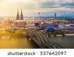 aerial view of cologne  germany.... | Shutterstock . vector #537642097