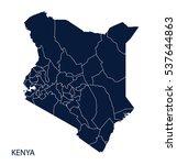 map of kenya. vector. | Shutterstock .eps vector #537644863