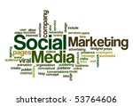 social media marketing   word... | Shutterstock .eps vector #53764606
