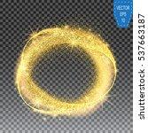illustration of gold glittering ... | Shutterstock .eps vector #537663187